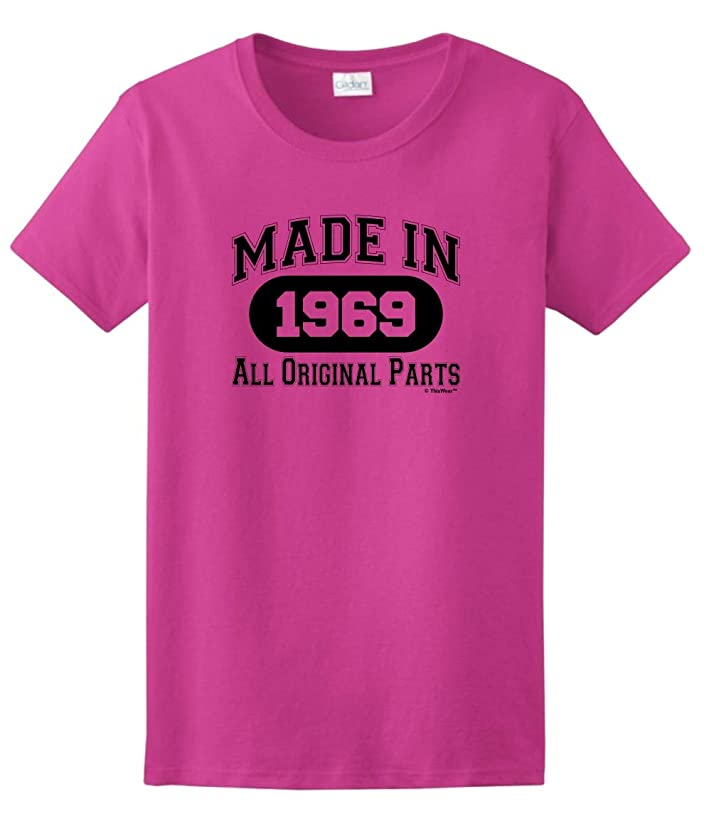 50th Birthday Gifts Made 1969 All Original Parts Ladies T-Shirt