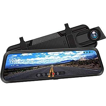DuDuBell ドライブレコーダー 前後カメラ ミラー型 前後1080P GPS機能 9.66インチタッチパネル スーパー暗視機能 HDRplus フルHD 高速録画 高画質 F1.4広角レンズ AHD技術支持 バックナビあり エンジン連動 同時録画 Gセンサー 駐車監視 常時録画 ループ録画 動体検知 リアカメラ バックカメラ ミラーモニター ドラレコ MD2