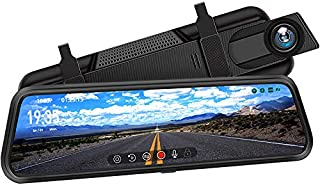 """DuDuBell Mirror Dash Cam, 10"""" Backup Camera with Reverse Assistance, 1080P Front and Rear Cameras with Enhanced Night Visi..."""
