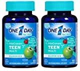 One A Day Vitacraves Teen for Him, 60 Count - Buy Packs and SAVE (Pack of 2)