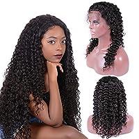 レースフロントウィッグ人間の髪の毛、黒人女性のためのピンクの巻き毛レースフロントウィッグ、人間の髪の毛のプレカットノット、漂白された13x4レースクローズドウィッグ、深い巻き毛、密度150%,28 inch