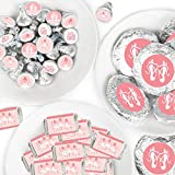 Big Dot of Happiness Tutu Cute Ballerina - Mini Candy Bar Wrappers, Round Candy Stickers and Circle Stickers - Ballet Birthday Party or Baby Shower Candy Favor Sticker Kit - 304 Pieces
