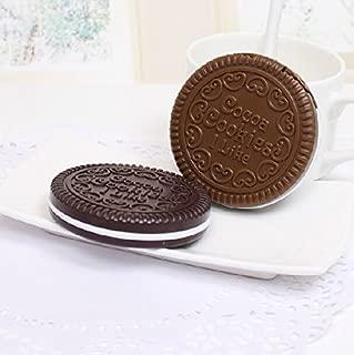 MotorFansClub Mini Cookie Shaped Design Mirror Makeup Comb Random delivery (1pcs) US Shipment