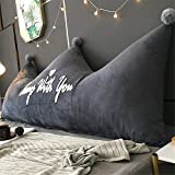 ZZKD Creativo Corona cabecero Cojines amortiguar Felpa Almohada Triangular cabecero Doble Respaldo Grande Almohada para Sofá Cama Dormitorio Cuna EtcC-90x60(35x24inch)