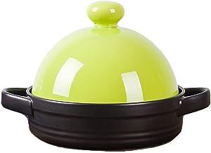 Home Tajine with Cone-Shaped Lid, 7.5Inch Tajine Cooking Pot Ceramics Casserole Dish Casserole Pan with Lid, Non Stick, fo...