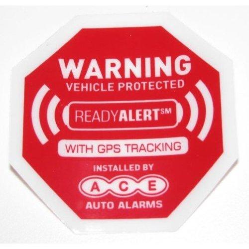 auto alarm decals - 2