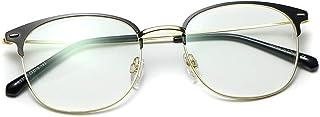 Kimorn Blue Light Blocking Glasses Ultralight Metal Frame For Women Men Clear Lens Computer Eyewear K0780