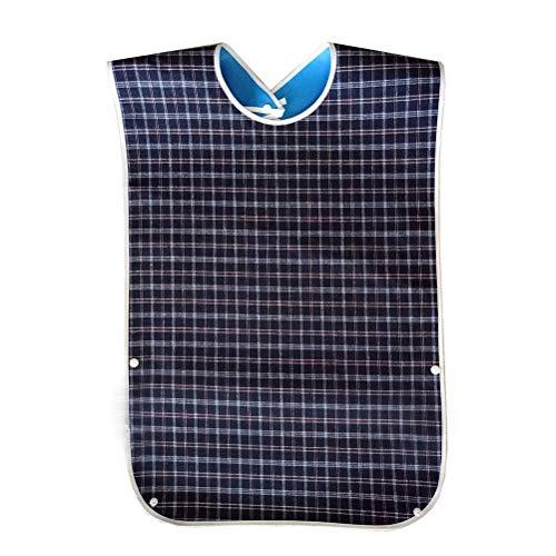 pengxiaomei Lätzchen für Erwachsene, waschbar, für ältere Menschen, Blau