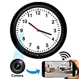 Wireless Hidden Camera Wall Clock,HD Spy Camera Nanny Cam,...