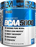 Evlution Nutrition BCAA5000 Powder (60 Servings, Unflavored) 5 Grams of Premium BCAAs