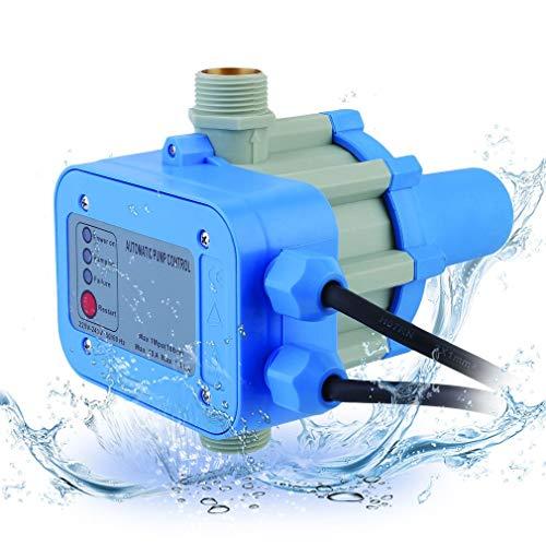 Krispich Pumpensteuerung Druckschalter 10bar Druckwächter, Elektronische Pumpensteuerung mit Kabel für Hauswasserwerk, Gartenbewässerung, Gartenpumpe, Tauchpumpe