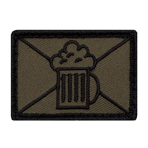 Café Viereck ® Bundeswehr Infanterie - Lustige Bier Taktik Zeichen Gestickt mit Klett - 5 cm x 3,5 cm