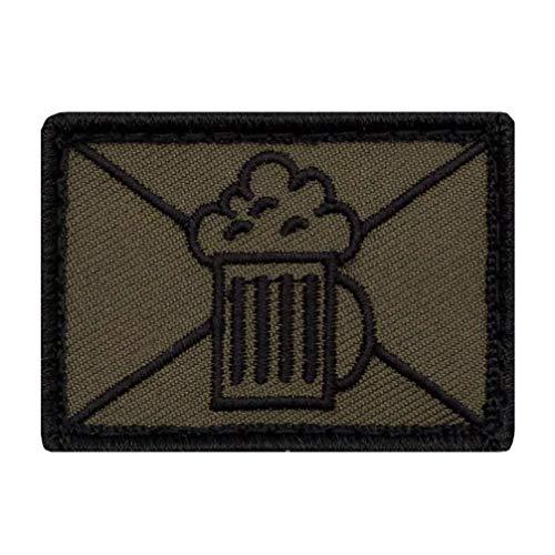 Café Viereck ® Bundeswehr Lustige Bier Taktik Zeichen Infanterie/Jäger Gestickt mit Klett - 5 cm x 3,5 cm