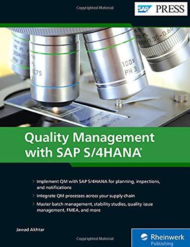 Quality Management with SAP S/4HANA (SAP PRESS: englisch)