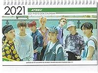 ATEEZ エーティーズ 2021-22年ホワイト卓上 カレンダー ※韓国店より発送、お届け2~4週間後