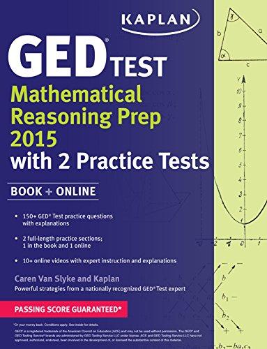 Kaplan GED Test Mathematical Reasoning Prep 2015 + Online