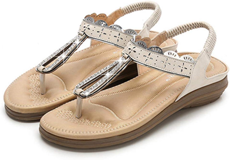 Owen Moll Women Flip-Flop Sandals Elastic Soft Female Casual Summer Beach Flat shoes