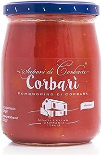 Corbarì - Pomodorino intero in succo di pomodorino Corbarino 580 Gr. - SAPORI DI CORBARA -Cartone 12 Pezzi