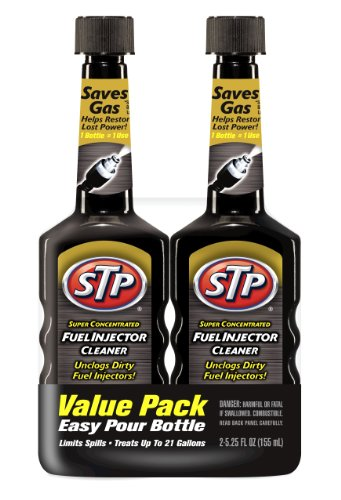 STP Fuel Injector Cleaner, Super Concentrated, Bottles, 5.25 Fl Oz, Pack of 2, 78577