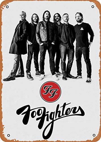 "EICOCO Foo Fighters Plaque Poster Metal Tin Sign 8"" x 12"" Vintage Retro Wall Decor"
