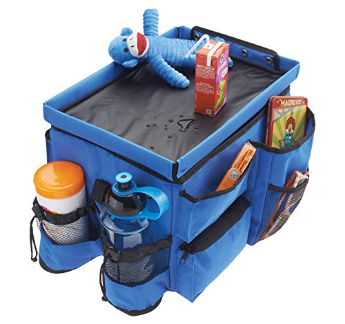 handy car organizer travel bag for kids cup holder Red lap tray activity table