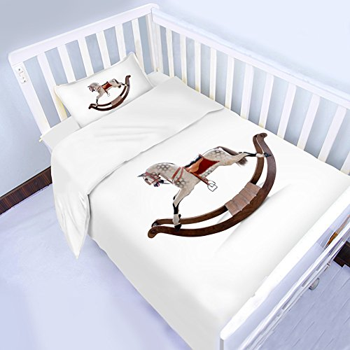 ZMDREAM Crib Bedding Set Cotton 3D Print 3 Parts Per Set Duvet Cover Set