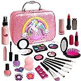 Kids Makeup Kit for Girl - Washable Girls Makeup Set, Toys for 4 5 6 7 Years Olds Girls, Real Little Girls Makeup for Kids, Toddler Gift for Girls