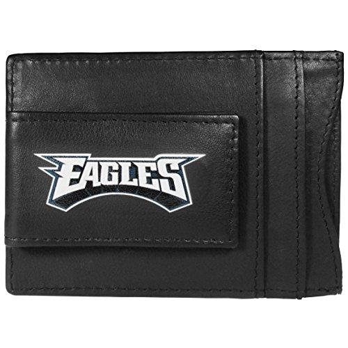 NFL Philadelphia Eagles Logo Leather Cash & Cardholder, Black