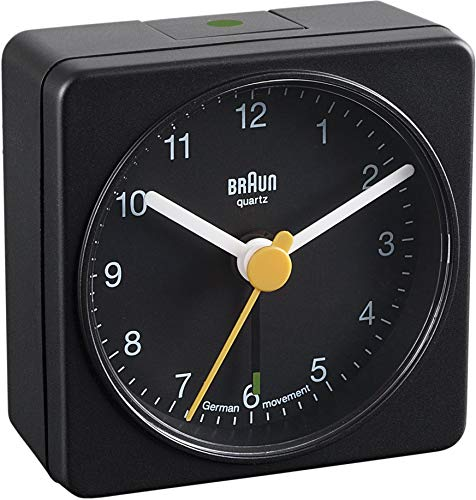 Braun BNC002 Classic Travel Alarm Clock, Black