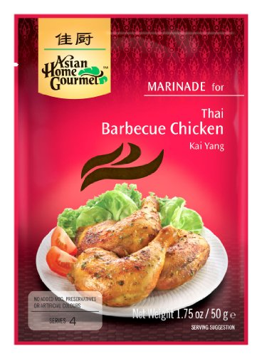 crock pot barbecue chickens Asian Home Gourmet Thai Aromatic Grill Chicken (Kai Yang) Mix, 1.75-Ounce Pouch (Pack of 12)