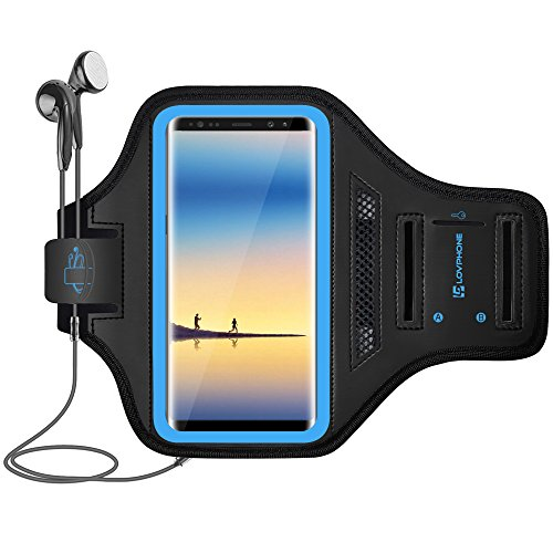 LOVPHONE Note 8/9/10/10+/iPhone12 Pro Max Armband, Sport Running Exercise Gym Case for Samsung Galaxy Note 8/Note 9/Note 10/10+,Fingerprint Sensor Access Supported,Water Resistant and Sweat-Proof