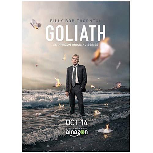 Goliath Billy Bob Thornton Serie TV Poster e Stampe su Tela Home Decor -50x75cm Senza Cornice