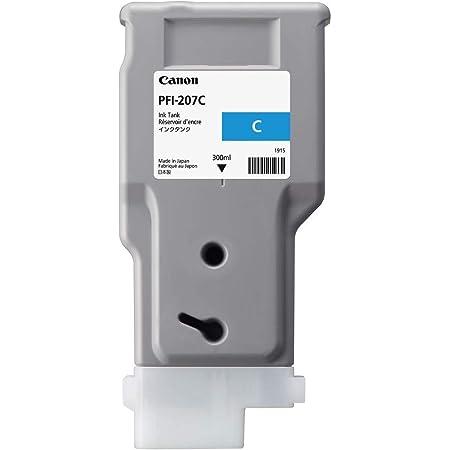 Canon PFI-207C ImagePrograf iPF680 iPF685 iPF780 iPF785 Ink Tank (Cyan) in Retail Packaging