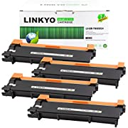LINKYO Valueline Replacement Brother TN660 TN-660 TN630 High Yield Black Toner Cartridge for HL-L2300D HL-L2305W MFC-L2740DW MFC-L2700DW DCP-L2540DW (4-Pack)