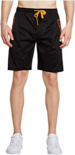 waitFOR Men Summer Stitching Sports Shorts Pure Colour Pockets Loose Tracksuit Bottoms Casual Elastic Waist Drawstring Bea...
