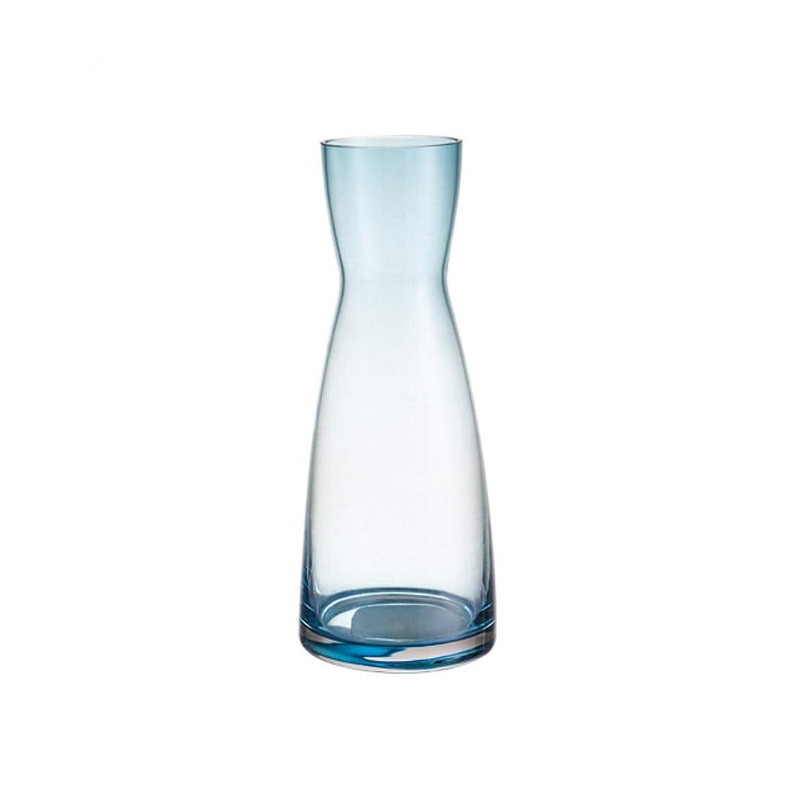 同情歴史家日DPWH 花瓶ガラスの花瓶の装飾クリエイティブ装飾リビングルームモダンなミニマリストのファッション (Color : Clear)