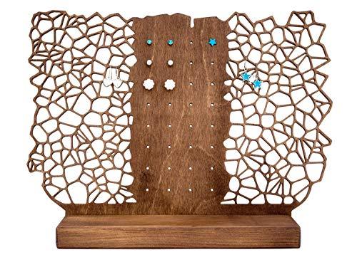 Schmuckständer für Ohrringe und Ohrstecker - Ohrringständer aus Holz - Ohrringhalter für viele Stecker