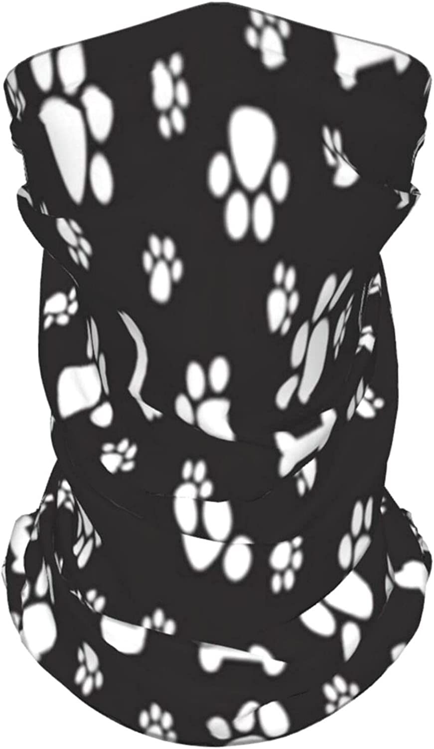 Dog Paw Cat Summer Ice Silk Breathable Face Mask Neck Gaiter Scarf Bandanas for Fishing,Hiking,Running,Motorcycle and Daily Wear