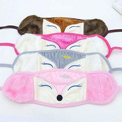 Maskers pluche maskers schattige vossenmaskers cartoon warme maskers Stof masker