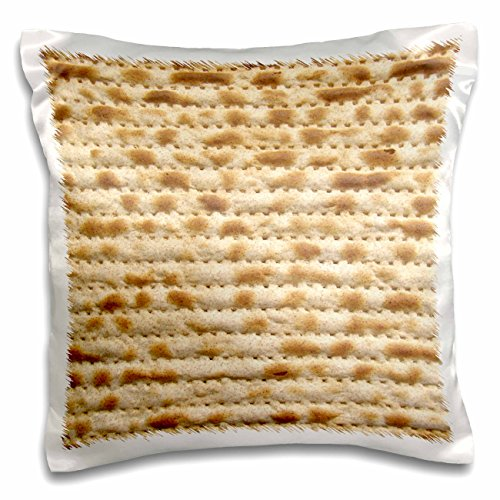 3dRose Matzah Bread Texture Photo-for Passover Pesach-Funny Jewish Humor-Humorous Matzo Judaism Food-Pillow Case, 16 by 16