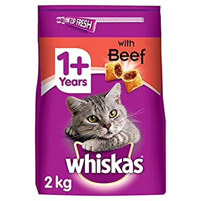 Whiskas 1+, Dry Cat Food for Adult Cats