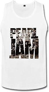 成人 面白い Rock Star ロックの代表格 パール?ジャム ランニング シャツ カジュアル White