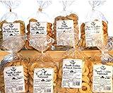 Taralli Pugliesi.Producto de panadería ideal para aperitivos La caja contiene taralli con aceite de oliva, con semillas de hinojo, con chile, grelo, pizza. PRODUCTO ITALIANO TÍPICO