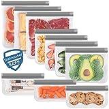 10 Pack Dishwasher Safe Reusable Storage Bags, Extra...
