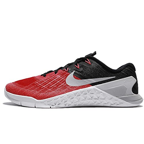 NIKE Mens Metcon 3 Training Shoes Track University Red/Wolf Grey/Black 852928-600 Size 10.5