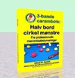 3-bande carambole - Halv bord cirkel mønstre: Fra professio