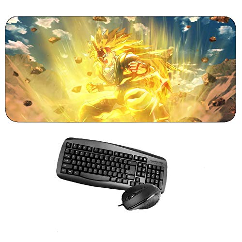 Mouse Pads,Large Size Soft Durable Gaming Mouse Pad 3D Anime Dragon Ball Goku Series 900 * 400 * 3mm