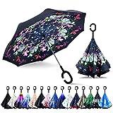 ZOMAKE Inverted Umbrella, Double Layer Reverse Umbrella Large Upside...