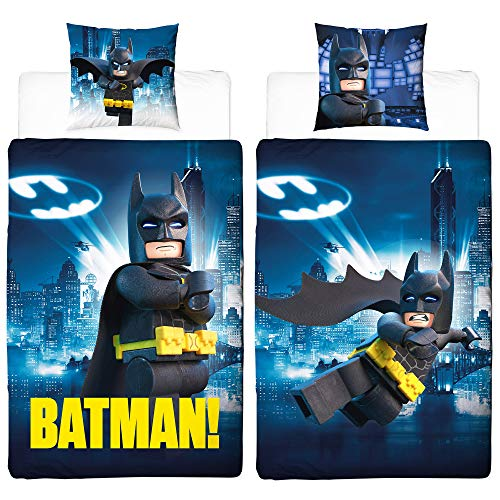 Lego Batman Movie Bettwäsche 2 tlg. 80x80 + 135x200 cm - 100 % Baumwolle - NEU