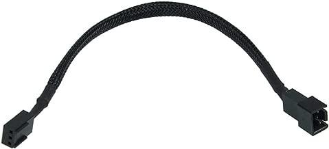 Phobya Adapter Cable, 3-Pin (12V) to 3-Pin (5V), 20cm, Sleeved, Black